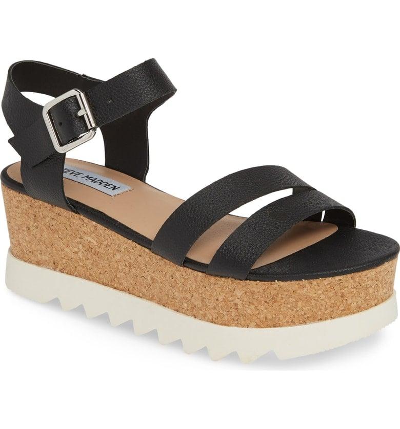 f23218261ece4 Steve Madden Keykey Platform Wedge Sandals | Best Black Sandals For ...