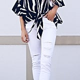 Asvivid Striped Off-Shoulder Top
