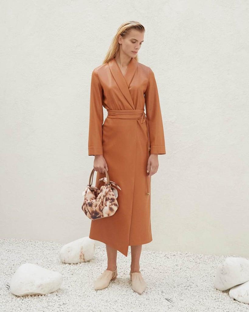 Nanushka Emery Vegan Leather Belted Dress