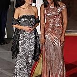 Agnese Landini and Michelle Obama