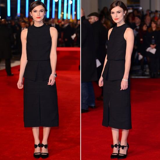 Keira Knightley in Black Dress at Jack Ryan Premiere
