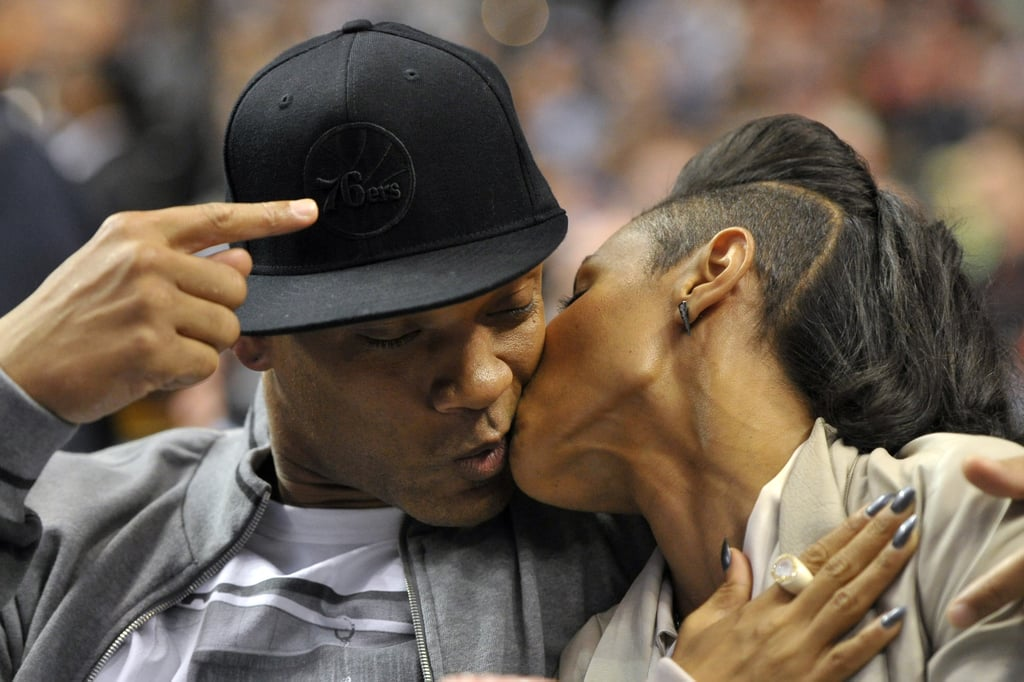 Will Smith and Jada Pinkett Smith shared a little smooch in May 2012 during a Philadelphia 76ers home game.