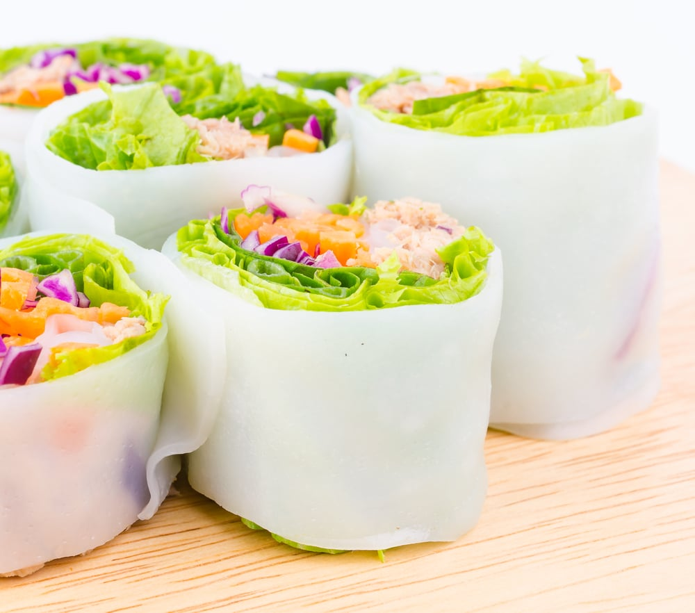 Healthy vegan lunch recipes popsugar fitness australia vegan spring rolls forumfinder Images
