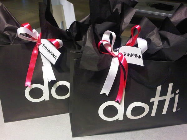Some little treats from Dotti for Rihanna! Twitpic User: sweatybettypr