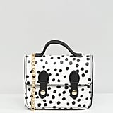 Asos Mini Polka Dot Satchel Bag With Top Handle