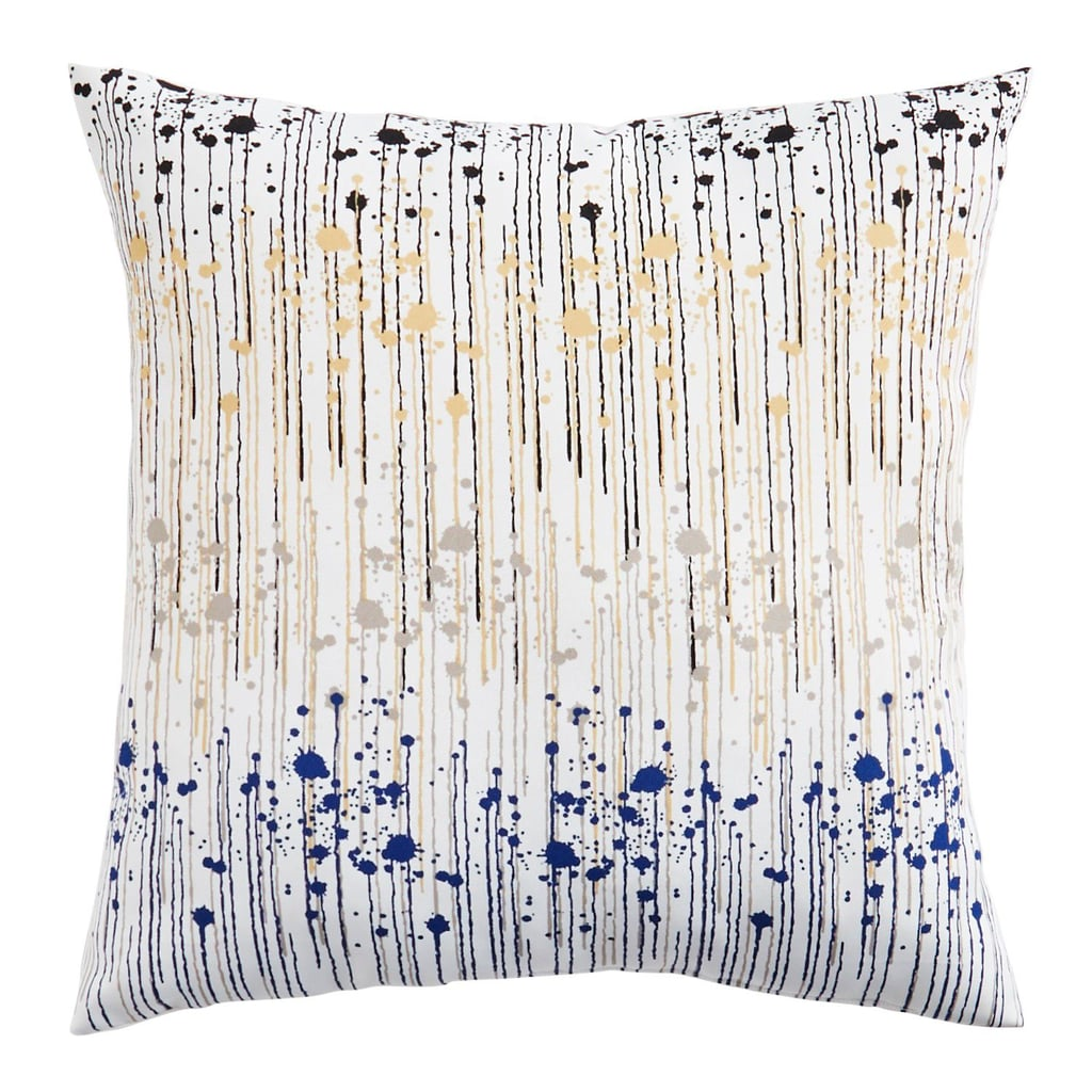 Paint Splatter Yellow Pillow
