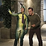 New Girl Schmidt (Max Greenfield) is a very dapper Public Serpent.