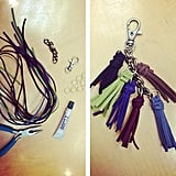 We made this leather fringe key chain! Do you like?