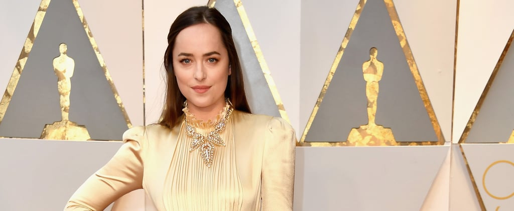 The Best Shade on Dakota Johnson Comes in the Form of a Golden Gucci Dress