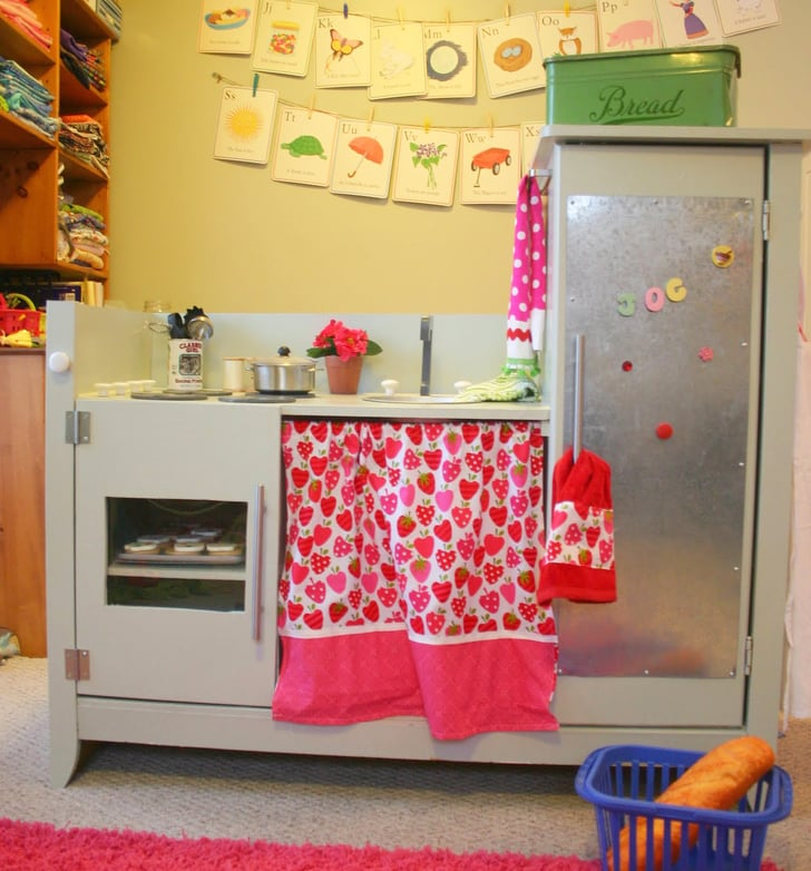Play kitchen how to repurpose your changing table for Play kitchen table