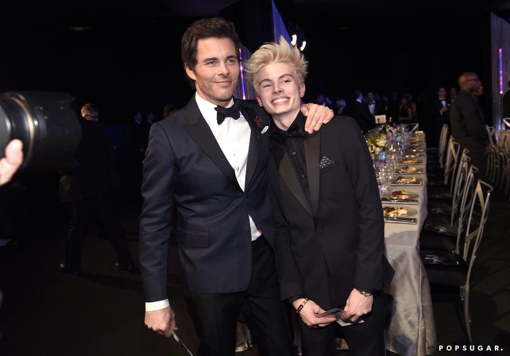 James Marsden And His Son At The 2017 Sag Awards