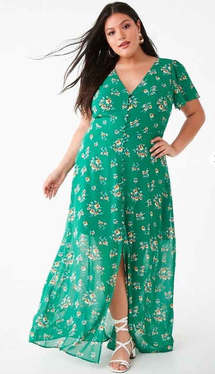 Forever 21 Plus Size Button-Down Floral Dress | Carole ...