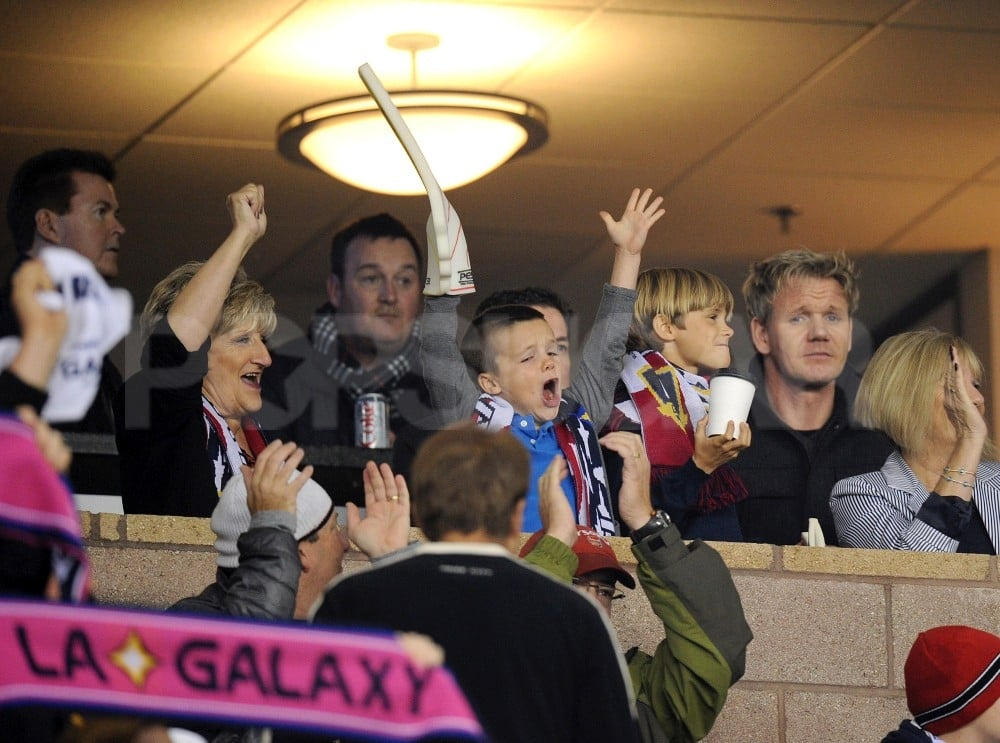 Cruz Beckham shouted for joy.