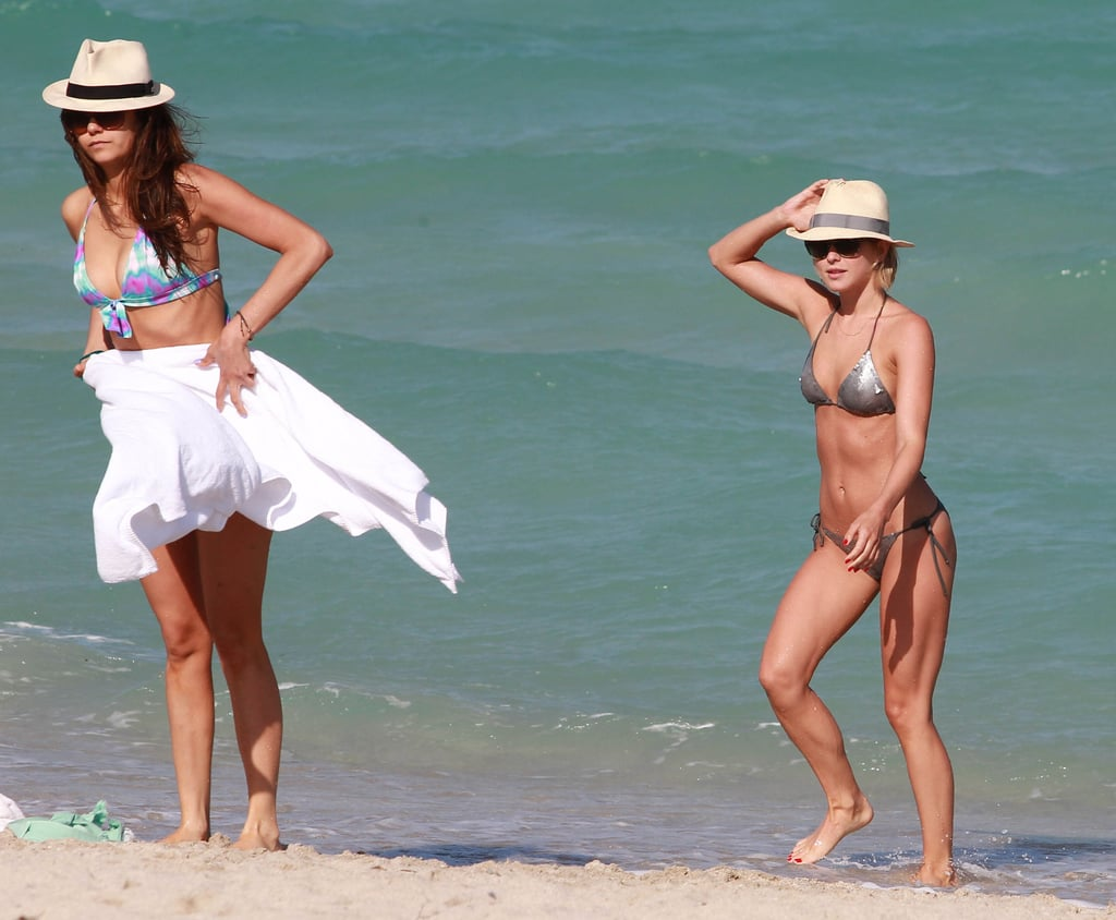 Nina Dobrev and Julianne Hough got out of the Miami water on Friday.
