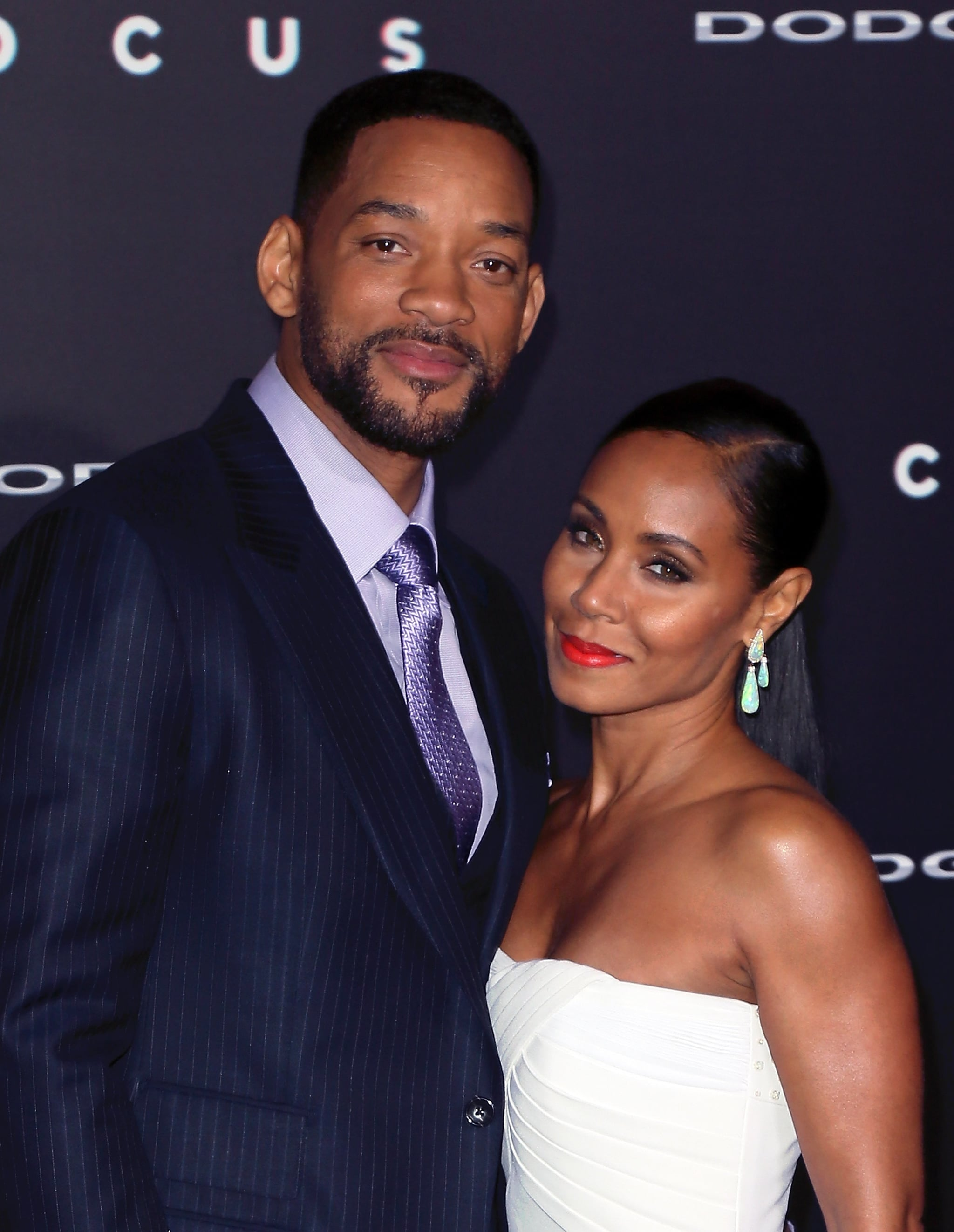 HOLLYWOOD, CA - FEBRUARY 24:  Actor Will Smith and wife actress Jada Pinkett Smith attend the premiere of Warner Bros. Pictures'