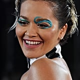 Rita Ora's Blue Eyeliner at British Fashion Awards 2019