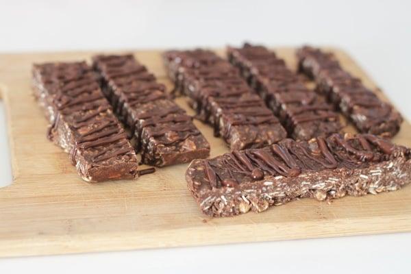 Crispy Chocolate Coconut Protein Bars