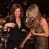 Jennifer shared a laugh with Julia Roberts at the SAG Awards in January 2015.