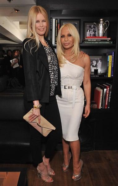 Claudia Schiffer, Donatella Versace