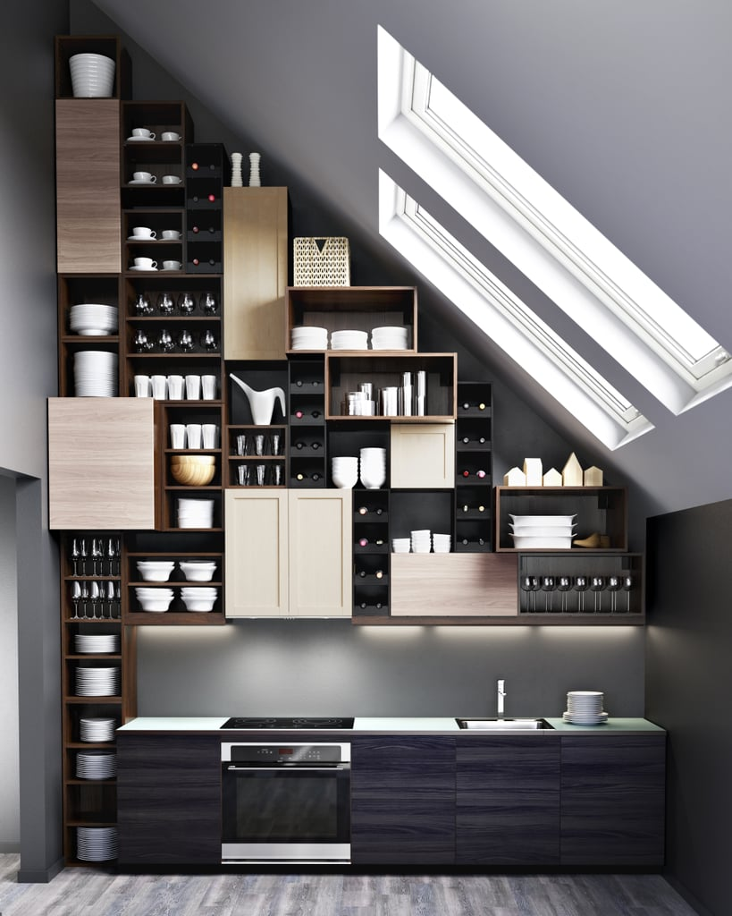 The Sektion system's building block approach allows you to stack cabinets and drawers any way you like for a custom look.