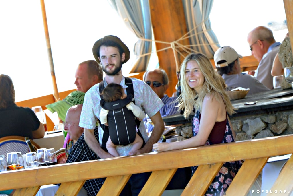 Sienna Miller and Tom Sturridge took baby Marlowe on her first vacation to Positano.