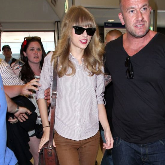 Taylor Swift Wearing Brown Cropped Jeans