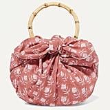 Emily Levine Dumpling Knotted Floral-Print Cotton-Voile Tote