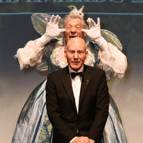 Ian McKellen and Patrick Stewart at Evening Standard Theatre