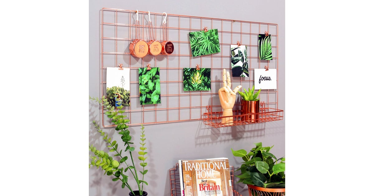 Simmer Stone Rose Gold Wall Grid Panel Rose Gold Home Decor
