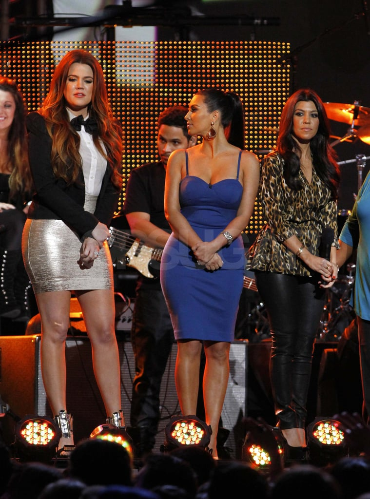 Kourtney, Khloe, and Kim Kardashian made an appearance on Jimmy Kimmel Live in LA.