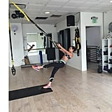 Lea Michele mixed things up with a little TRX.