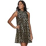 ELLE Polka Dot Trapeze Dress