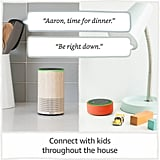 "Gone are the days of shouting up the stairs for the kids to come down to dinner when this device allows for household announcements, calling, and ""Drop In"" within the home."