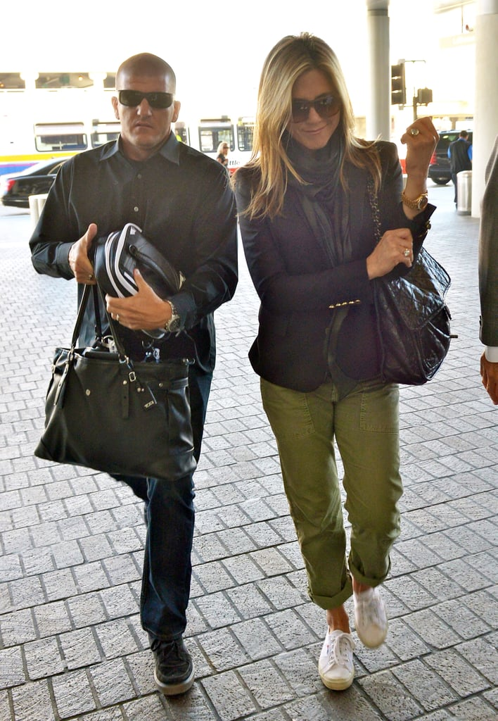 Jennifer Aniston arrived at LAX to catch a flight out of town.