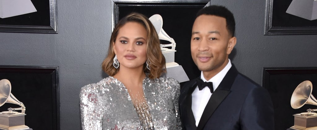 Chrissy Teigen's Dress Shines So Bright, There's No Way You'll Miss Her at the Grammys
