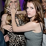 Anna Kendrick didn't let anyone get a photo of Kristin Bauer at the Entertainment Weekly party in 2012.