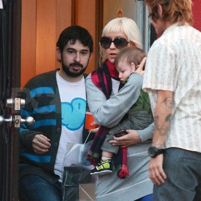 Max Bratman, Jordan Bratman, and Christina Aguilera Out in LA