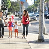 Jennifer Garner, Violet Affleck, and Seraphina Affleck had a day out together in LA.