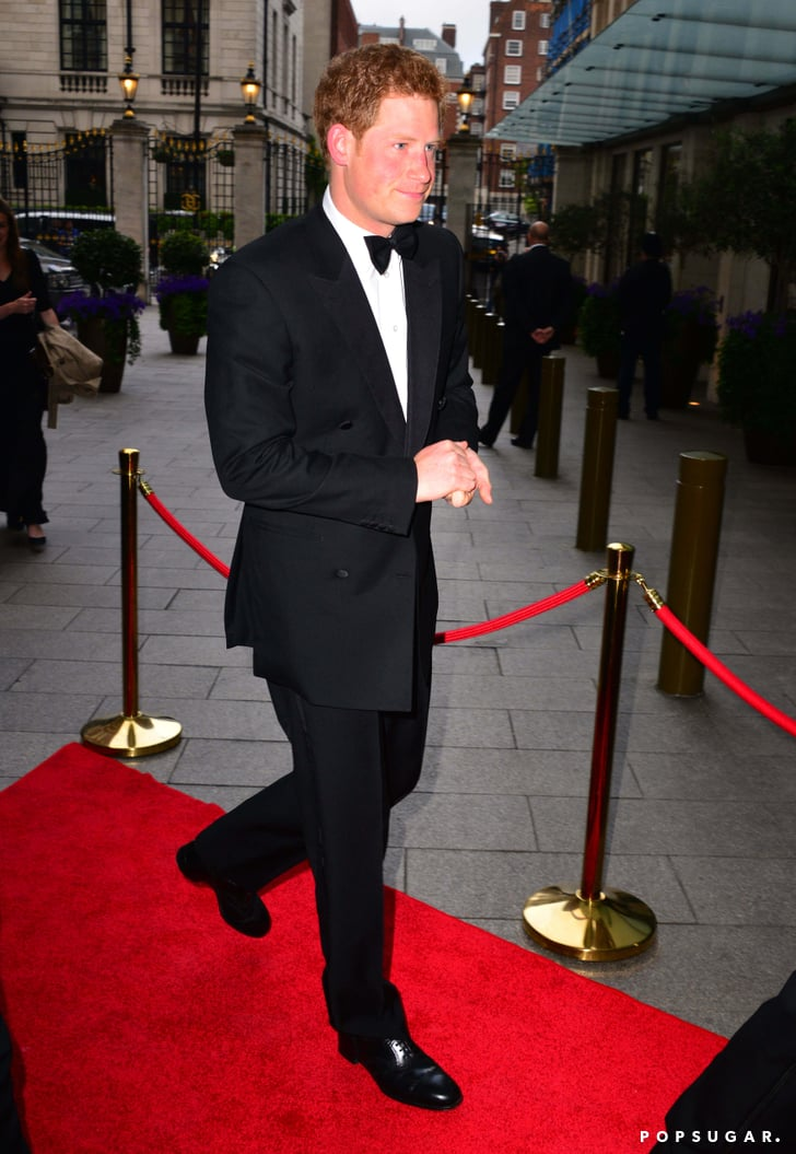 Prince Harry arrived at the Walking With the Wounded gala dinner.