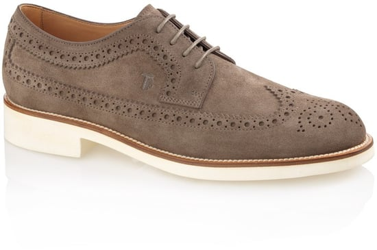 Lace-Up Suede Oxford Shoes