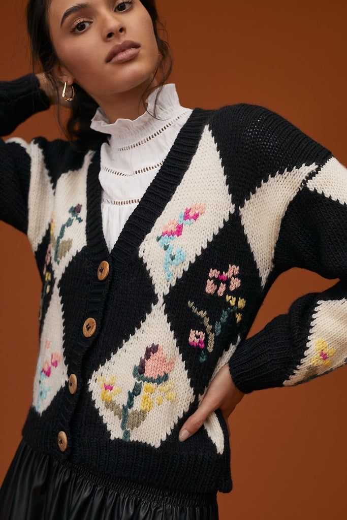 It's All in the Details: Tach Clothing Floral Wool Cardigan
