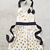 Gold Polka Dotted Kid' s Apron