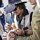 Johnny Depp at the Jimmy Kimmel Live studios.