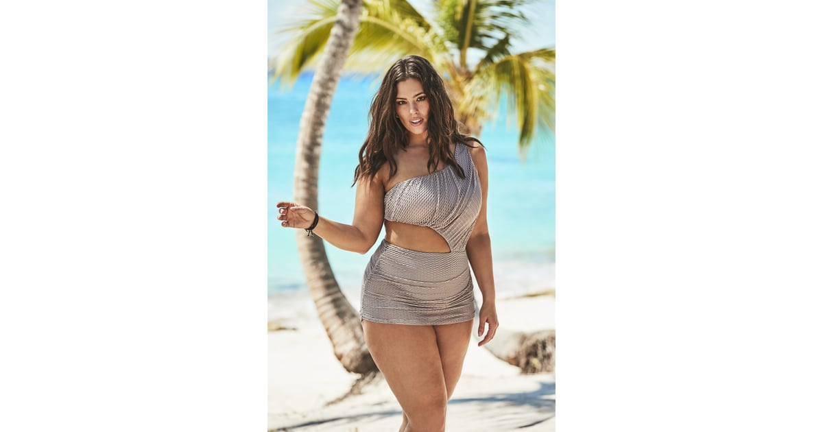 25a65bdb34244 Ashley Graham x Swimsuits For All Gala One Shoulder One Piece Swimsuit | Ashley  Graham's Sister Joins Her For a Swimsuit Campaign, and I Just Got All ...