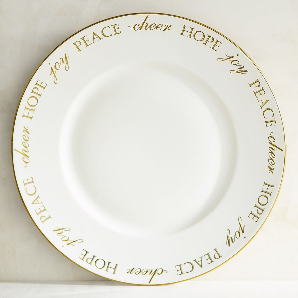 Holiday Peace and Joy Porcelain Dinner Plate ($8, originally $10)