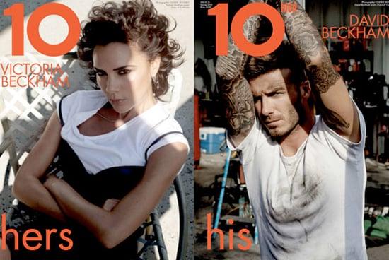 David and Victoria Beckham do 10 Magazine