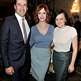 Mad Men's Jon Hamm, Christina Hendricks, and Elisabeth Moss met up on Friday at the AFI lunch.