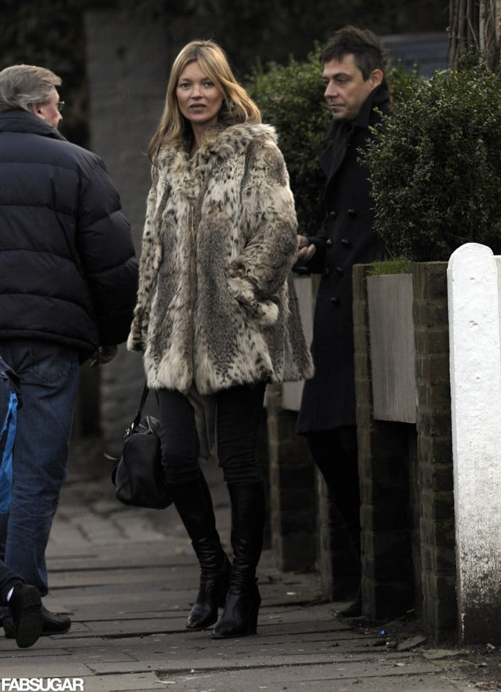 Kate Moss may have celebrated her 39th birthday earlier in the week, but that doesn't mean she has any intention of ditching the louder style statements. She stepped out prebirthday in a luxe leopard coat, black skinny jeans, and black ankle boots — proving, as always, that she's the epitome of a cool girl.