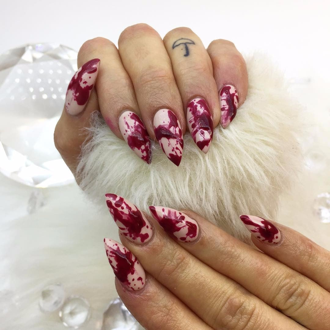 Blood inspired halloween nail art popsugar beauty prinsesfo Choice Image