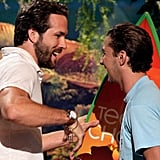 Ryan Reynolds congratulated Shia LaBeouf in 2007 for his favorite breakout actor win.